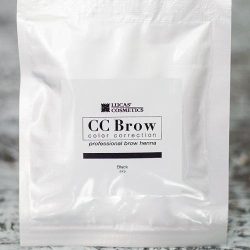 Хна для бровей CC Brow (black) в саше (черный), 5 г