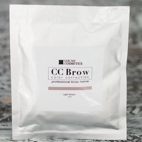 Хна для бровей CC Brow (light brown) в саше (светло-коричневый), 5 г