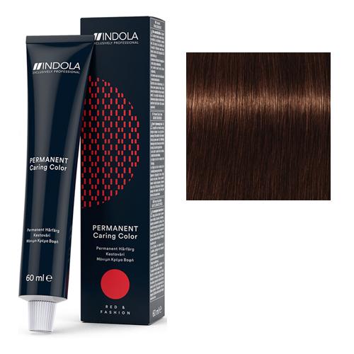 Стойкая крем-краска для волос RED&FASHION 4.4 Средний коричневый медный