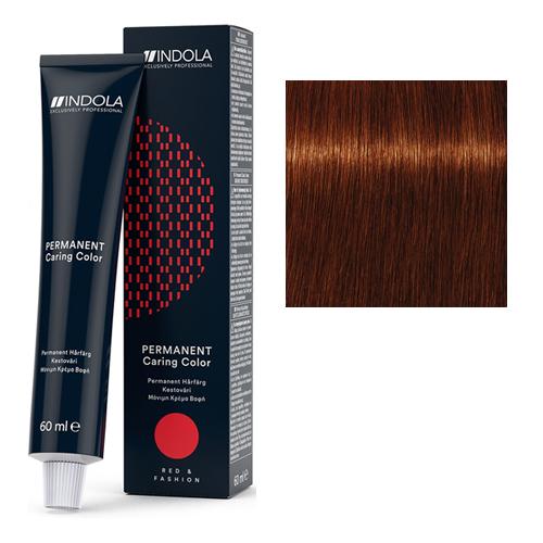 Стойкая крем-краска для волос RED&FASHION 5.60 Светлый коричневый красный натуральный