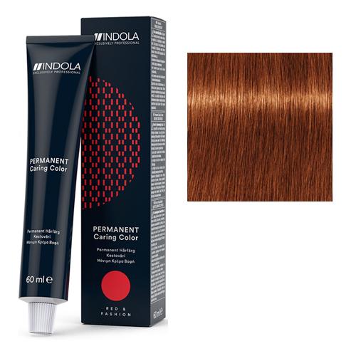Стойкая крем-краска для волос RED&FASHION 6.4 Темный русый медный