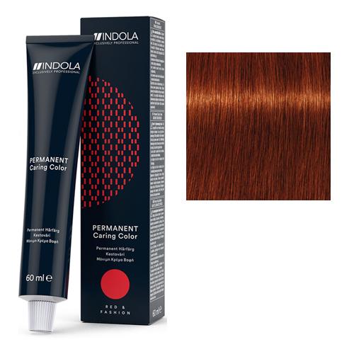 Стойкая крем-краска для волос RED&FASHION 6.44 Темный русый интенсивный медный