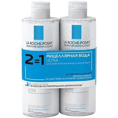 Дуопак: вода мицеллярная Ultra для чувствительной кожи, 2 х 400 мл