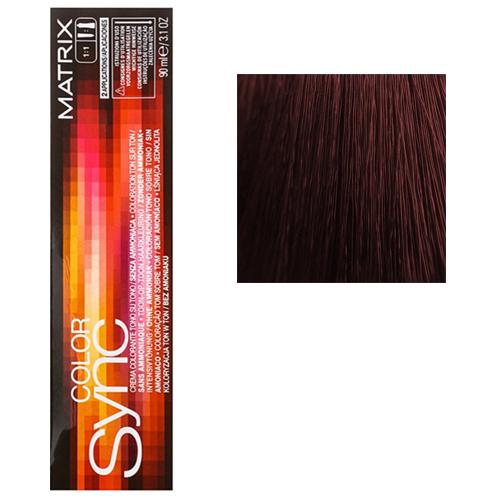 Color Sync Крем-краска для волос 4RV+, шатен красно-перламутровый, 90 мл