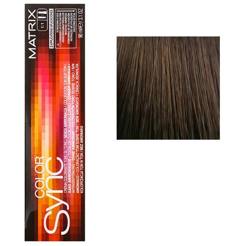Color Sync Крем-краска для волос 6A, темный блондин пепельный, 90 мл