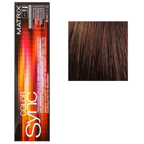 Color Sync Крем-краска для волос 6WN, темный блондин теплый натуральный, 90 мл