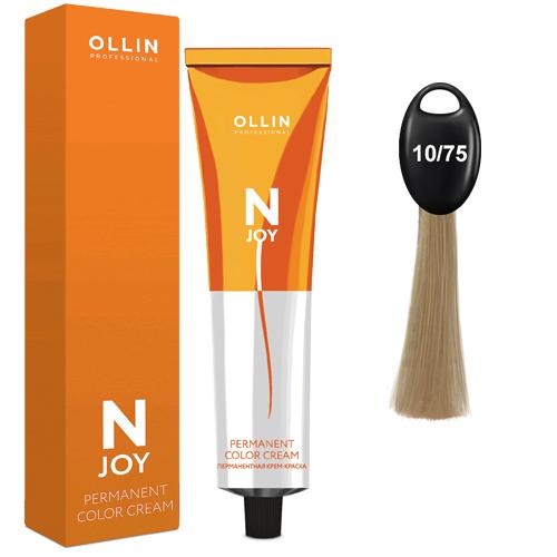 N-JOY Крем-краска для волос 10/75 светлый блондин коричнево-махагоновый