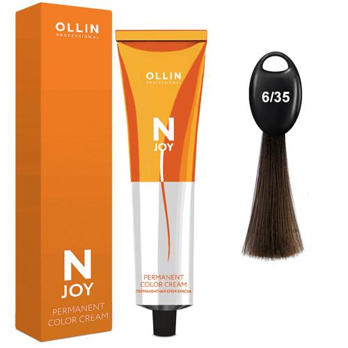 N-JOY Крем-краска для волос 6/35 темно-русый золотисто-махагоновый