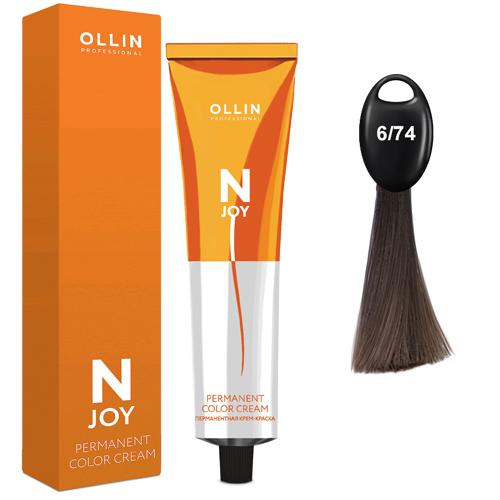 N-JOY Крем-краска для волос 6/74 темно–русый коричнево-медный