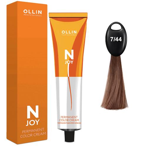 N-JOY Крем-краска для волос 7/44 русый интенсивно-медный