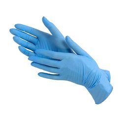Перчатки нитриловые NITRILE размер L (50 пар), голубой