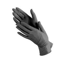 Перчатки нитриловые NITRILE размер M (50 пар), черный