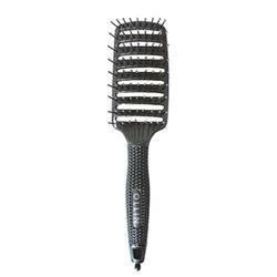 Щетка для укладки волос, изогнутая средняя 9 рядов, пластик