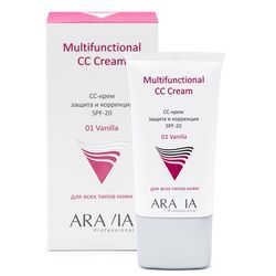 СС-крем защитный SPF-20 Multifunctional CC Cream, Vanilla 01
