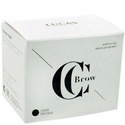 Краска для бровей dark brown (темно-коричневый) с окислителем