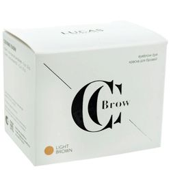 Краска для бровей light brown (светло-коричневый) с окислителем