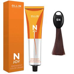 N-JOY Крем-краска для волос 5/4 светлый шатен медный