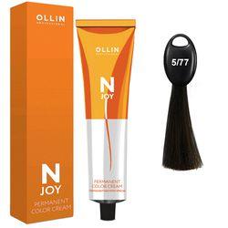 N-JOY Крем-краска для волос 5/77 светлый шатен интенсивно-коричневый