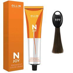 N-JOY Крем-краска для волос 7/77 русый интенсивно-коричневый