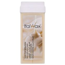 ItalWax Воск в картриджах, Белый шоколад для волос средней жесткости, 100 мл