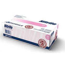 Перчатки нитриловые NITRILE размер S (50 пар), розовый