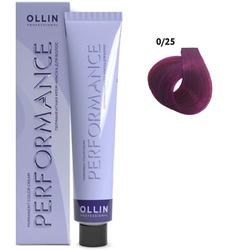 Перманентная крем-краска для волос 0-25 фиолетово-махагоновый (розовый), 60 мл