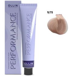 Перманентная крем-краска для волос 9/75 блондин коричнево-махагоновый, 60 мл