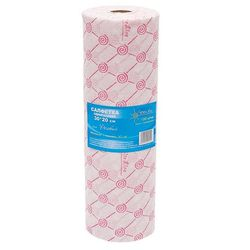 Салфетка одноразовая спанлейс розовый 30*20 см, рол, 100 шт.