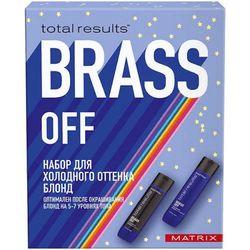 Набор Total Results Color Obsessed Brass Off для создания холодного блонда, 300 мл + 300 мл