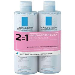 Дуопак: вода мицеллярная Ultra для реактивной кожи, 2 х 400 мл
