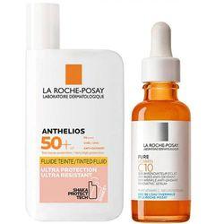 Набор, сыворотка антиоксидантная Vitamin C10 Serum, 30 мл + флюид тонирующий Anthelios SPF 50+, 50 мл